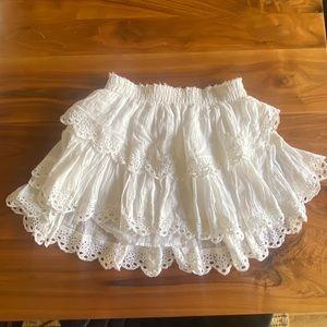 Loveshackfancy white ruffle skirt